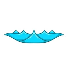 Small ocean waves icon cartoon style vector