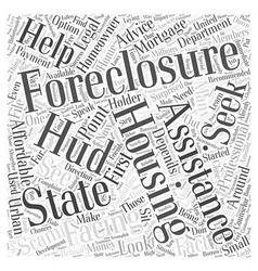 Seeking professional foreclosure assistance and vector