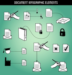 Document infographic elements vector
