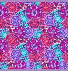 Gypsy seamless pattern of abstract multicolored vector