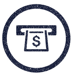 cashout slot rounded grainy icon vector image