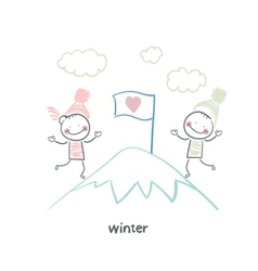 Winter walk vector