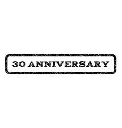 30 anniversary watermark stamp vector image vector image