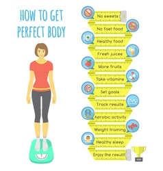 Fitness infographics vector