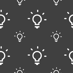 Light lamp idea icon sign seamless pattern on a vector
