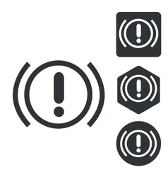 Alert sign icon set monochrome vector
