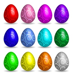 More easter eggs collection vector