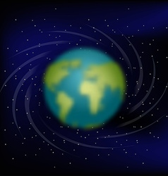 Earth in space black space star and planet earth vector