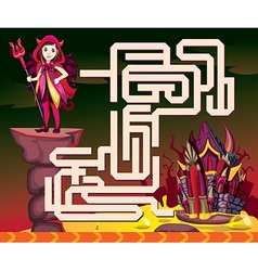 Halloween maze vector image