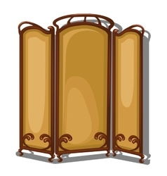 Folding screen on a white background isolated vector