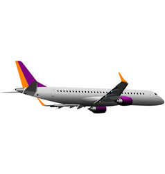 Airplane on the air vector