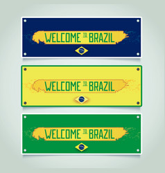 Banners set - welcome to brazil vector