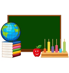 Blackboard and educational materials vector image