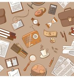 Business theme doodle vintage style vector image