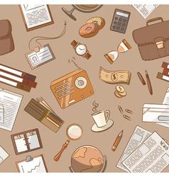 Business theme doodle vintage style vector