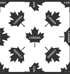 canadian maple leaf with city name canada icon vector image vector image