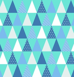 Christmas triangle pattern vector