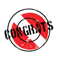 Congrats rubber stamp vector