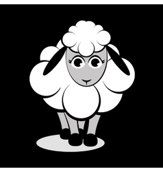 Cute sheep vector