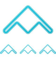 Cyan stealth bomber logo design set vector