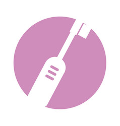 Electric brush isolated icon vector