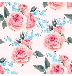 English roses seamless vector image