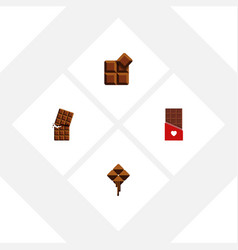 Flat icon chocolate set of chocolate delicious vector