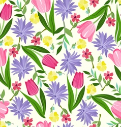 Floral seamless pattern texture with with bright vector image vector image