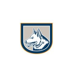 German Shepherd Dog Head Shield Retro vector image vector image