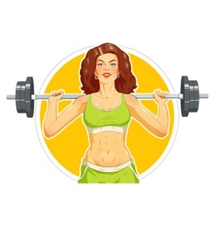 Girl doing fitness exercise vector