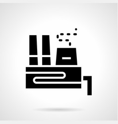 Glyph style icon for power plant vector