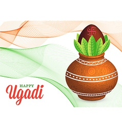 Happy ugadi celebration vector