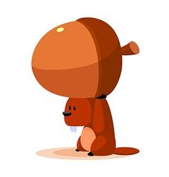 Icon squirrel and acorn vector