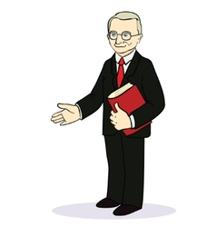 Man gives a hand for a handshake businessman vector
