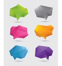 Polygonal speech bubbles vector image vector image