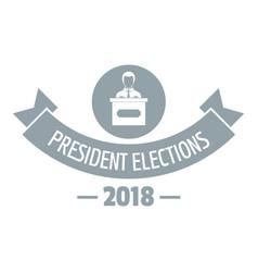 President debate logo simple gray style vector