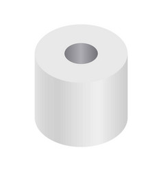 simple white cartoon toilet paper roll isolated vector image