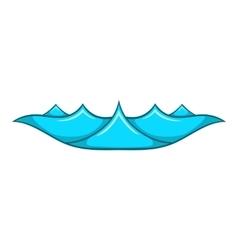 Small ocean waves icon cartoon style vector