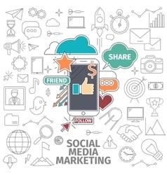 Social media marketing vector