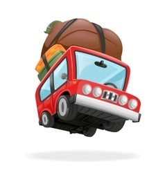 Travel Minivan Car Icon Vacation Isolated vector image vector image