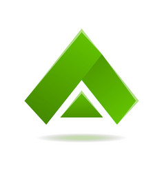 triangle green abstract isolated element for logo vector image vector image