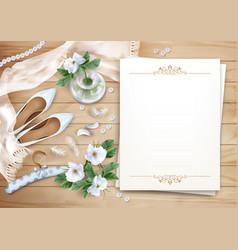 Wedding floral background vector