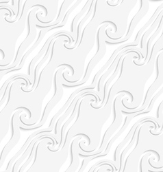 White curved lines and swirls perforated striped vector