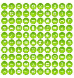 100 gas station icons set green circle vector