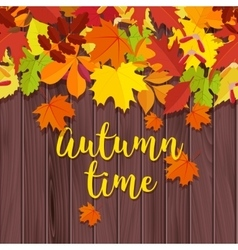 Autumn background frame for text decorated with vector