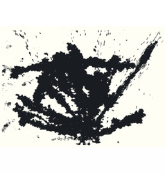 Splatter black ink background vector