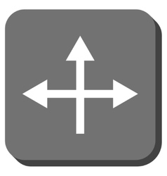 Intersection directions rounded square icon vector