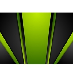 Vibrant green black abstract background vector