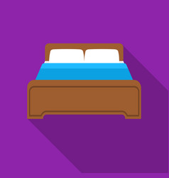 Bed icon in flat style isolated on white vector