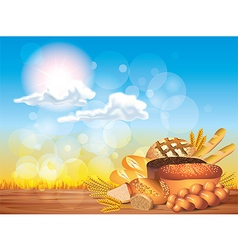 Breads sunny background vector